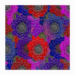 Colorful Background Of Multi Color Floral Pattern Medium Glasses Cloth (2-Side)
