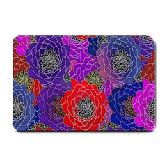 Colorful Background Of Multi Color Floral Pattern Small Doormat