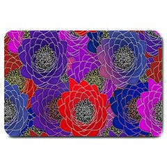 Colorful Background Of Multi Color Floral Pattern Large Doormat