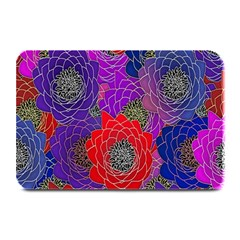Colorful Background Of Multi Color Floral Pattern Plate Mats