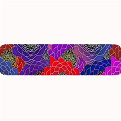 Colorful Background Of Multi Color Floral Pattern Large Bar Mats