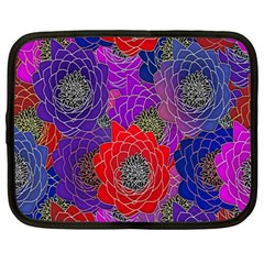 Colorful Background Of Multi Color Floral Pattern Netbook Case (Large)