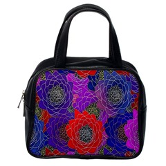 Colorful Background Of Multi Color Floral Pattern Classic Handbags (one Side)