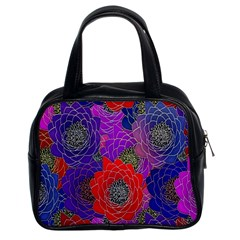 Colorful Background Of Multi Color Floral Pattern Classic Handbags (2 Sides)