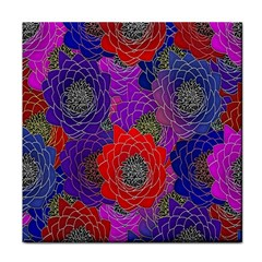 Colorful Background Of Multi Color Floral Pattern Face Towel