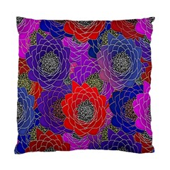 Colorful Background Of Multi Color Floral Pattern Standard Cushion Case (Two Sides)
