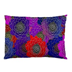 Colorful Background Of Multi Color Floral Pattern Pillow Case