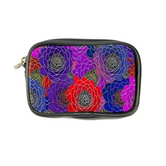 Colorful Background Of Multi Color Floral Pattern Coin Purse