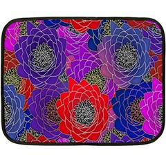 Colorful Background Of Multi Color Floral Pattern Double Sided Fleece Blanket (Mini)