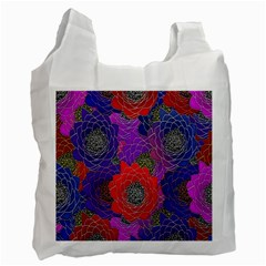 Colorful Background Of Multi Color Floral Pattern Recycle Bag (two Side)