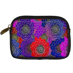 Colorful Background Of Multi Color Floral Pattern Digital Camera Cases
