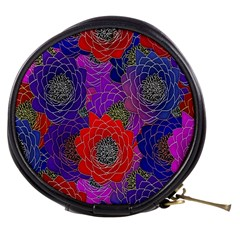 Colorful Background Of Multi Color Floral Pattern Mini Makeup Bags