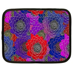 Colorful Background Of Multi Color Floral Pattern Netbook Case (XL)