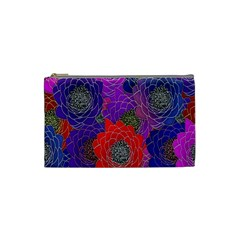 Colorful Background Of Multi Color Floral Pattern Cosmetic Bag (small)