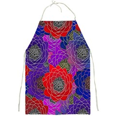 Colorful Background Of Multi Color Floral Pattern Full Print Aprons
