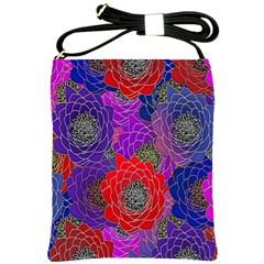 Colorful Background Of Multi Color Floral Pattern Shoulder Sling Bags