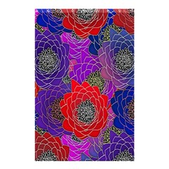 Colorful Background Of Multi Color Floral Pattern Shower Curtain 48  x 72  (Small)
