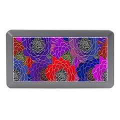 Colorful Background Of Multi Color Floral Pattern Memory Card Reader (Mini)
