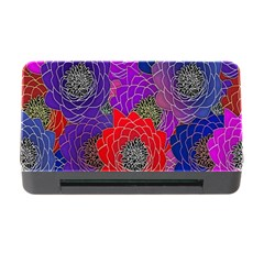 Colorful Background Of Multi Color Floral Pattern Memory Card Reader with CF
