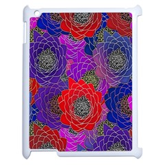 Colorful Background Of Multi Color Floral Pattern Apple iPad 2 Case (White)