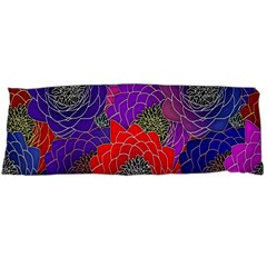 Colorful Background Of Multi Color Floral Pattern Body Pillow Case Dakimakura (Two Sides)
