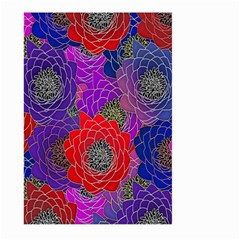 Colorful Background Of Multi Color Floral Pattern Large Garden Flag (Two Sides)