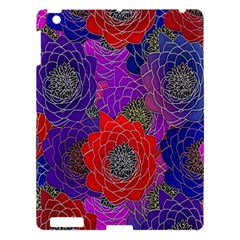 Colorful Background Of Multi Color Floral Pattern Apple iPad 3/4 Hardshell Case
