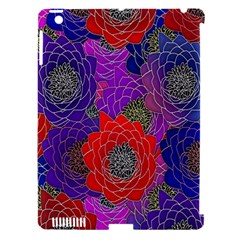 Colorful Background Of Multi Color Floral Pattern Apple iPad 3/4 Hardshell Case (Compatible with Smart Cover)
