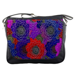Colorful Background Of Multi Color Floral Pattern Messenger Bags