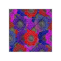 Colorful Background Of Multi Color Floral Pattern Acrylic Tangram Puzzle (4  x 4 )