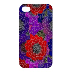 Colorful Background Of Multi Color Floral Pattern Apple Iphone 4/4s Premium Hardshell Case