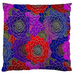 Colorful Background Of Multi Color Floral Pattern Large Cushion Case (One Side)