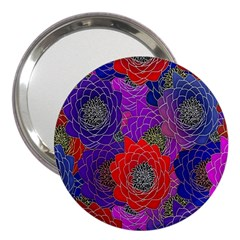 Colorful Background Of Multi Color Floral Pattern 3  Handbag Mirrors