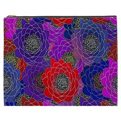 Colorful Background Of Multi Color Floral Pattern Cosmetic Bag (XXXL)