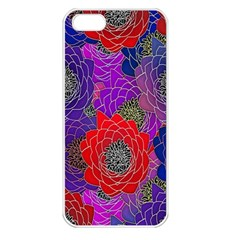 Colorful Background Of Multi Color Floral Pattern Apple Iphone 5 Seamless Case (white)