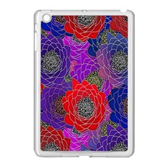 Colorful Background Of Multi Color Floral Pattern Apple Ipad Mini Case (white)