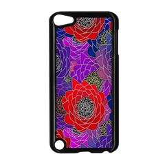 Colorful Background Of Multi Color Floral Pattern Apple Ipod Touch 5 Case (black)