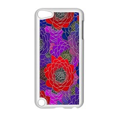 Colorful Background Of Multi Color Floral Pattern Apple iPod Touch 5 Case (White)