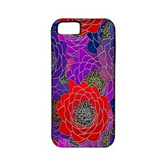 Colorful Background Of Multi Color Floral Pattern Apple iPhone 5 Classic Hardshell Case (PC+Silicone)