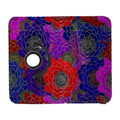 Colorful Background Of Multi Color Floral Pattern Galaxy S3 (Flip/Folio)