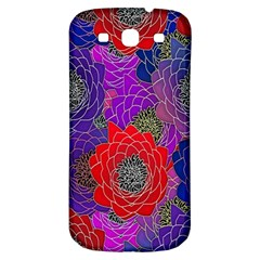 Colorful Background Of Multi Color Floral Pattern Samsung Galaxy S3 S Iii Classic Hardshell Back Case
