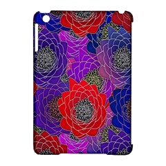 Colorful Background Of Multi Color Floral Pattern Apple iPad Mini Hardshell Case (Compatible with Smart Cover)