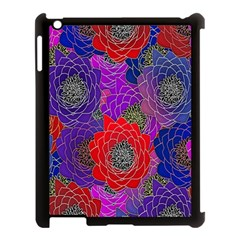 Colorful Background Of Multi Color Floral Pattern Apple Ipad 3/4 Case (black)