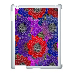 Colorful Background Of Multi Color Floral Pattern Apple Ipad 3/4 Case (white)