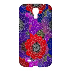 Colorful Background Of Multi Color Floral Pattern Samsung Galaxy S4 I9500/i9505 Hardshell Case