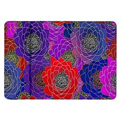 Colorful Background Of Multi Color Floral Pattern Samsung Galaxy Tab 8.9  P7300 Flip Case