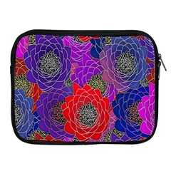 Colorful Background Of Multi Color Floral Pattern Apple iPad 2/3/4 Zipper Cases