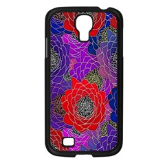 Colorful Background Of Multi Color Floral Pattern Samsung Galaxy S4 I9500/ I9505 Case (Black)