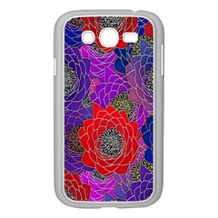 Colorful Background Of Multi Color Floral Pattern Samsung Galaxy Grand DUOS I9082 Case (White)