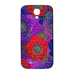 Colorful Background Of Multi Color Floral Pattern Samsung Galaxy S4 I9500/I9505  Hardshell Back Case
